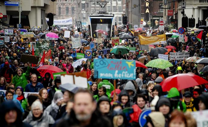 Klimaatmars in Amsterdam.
