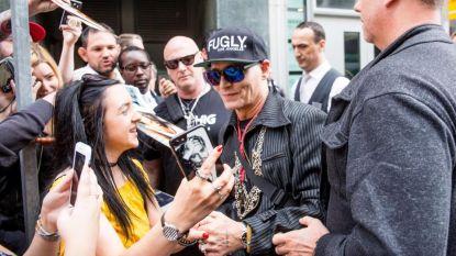 Fel vermagerde Johnny Depp verschijnt voor het eerst in het openbaar