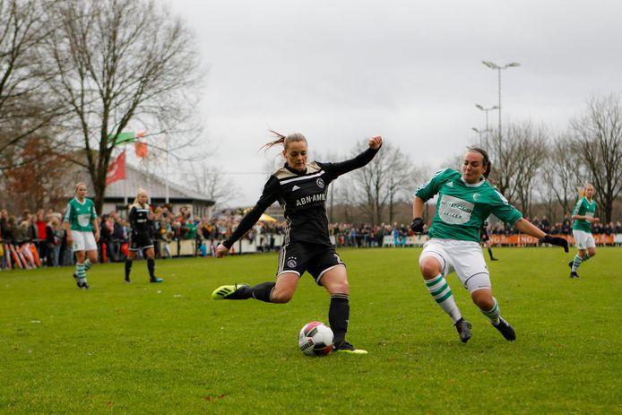 Vorig seizoen eindigde het bekeravontuur in de achtste finale tegen Ajax. Ditmaal stond eersteklasser IJFC in de weg. (archiefbeeld)