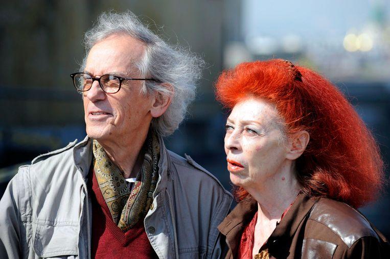 Kunstenaars Christo (l) en zijn vrouw Jeanne-Claude in 2009. Beeld EPA