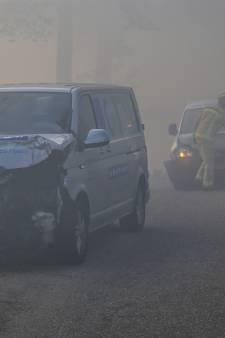 Verlaging maximumsnelheid na botsing bij Liessel door rook Peelbrand
