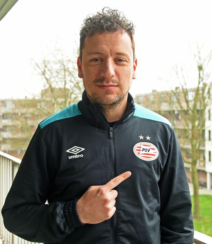 Jarno Waebeke, bij veel PSV-supporters bekend als 'Garrincha'.