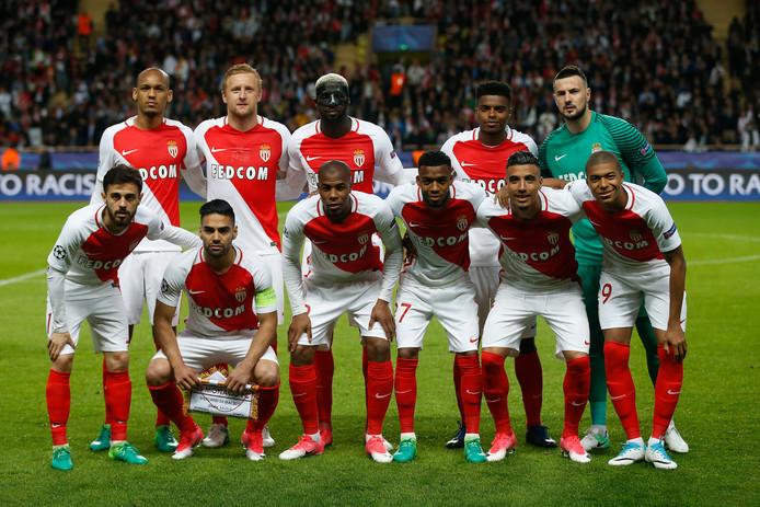 De basiself van AS Monaco voor de halve finale van de Champions League tegen Juventus in 2017.
