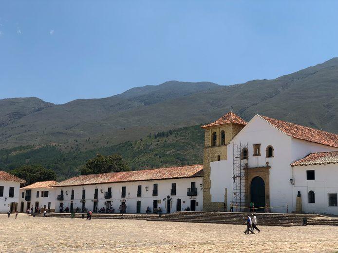 De Colombiaanse stadje Villa de Leyva, ten noordoosten van hoofdstad Bogotá waar de Nederlandse toeristen werden aangehouden.