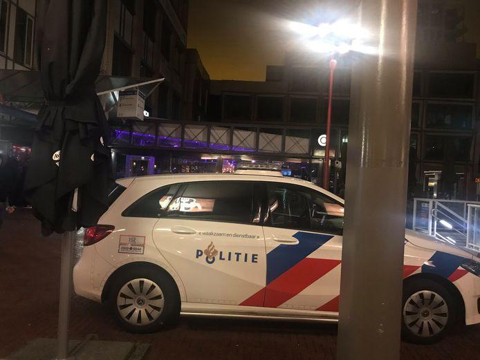 Een foto die de burgemeester afgelopen nacht maakte tijdens de dienst in Zoetermeer