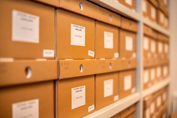 Het eindresultaat: net geen honderd archiefdozen.