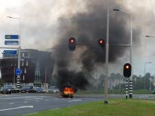 Motor gaat in vlammen op in Kampen
