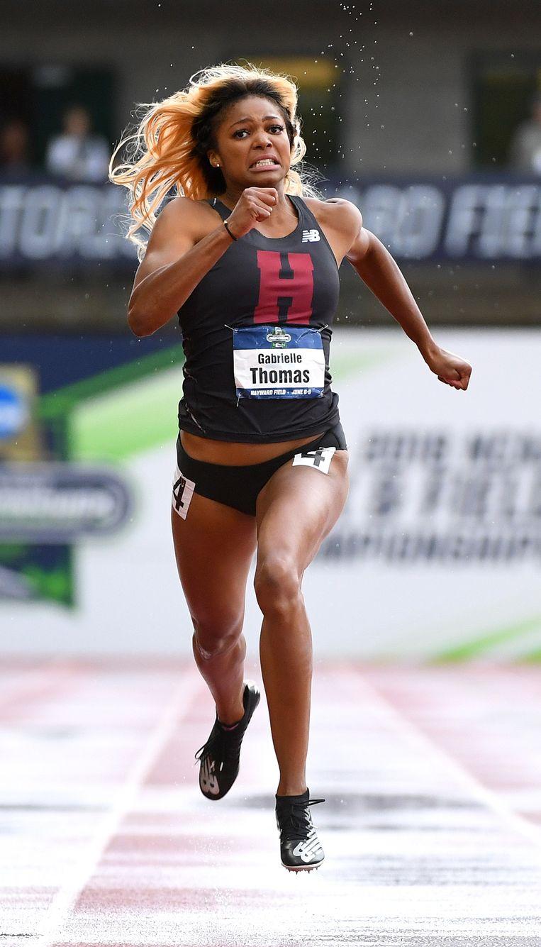 Atlete Gabrielle Thomas uit de Verenigde Staten. Beeld NCAA Photos via Getty Images