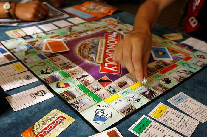 Het bordspel Monopoly.
