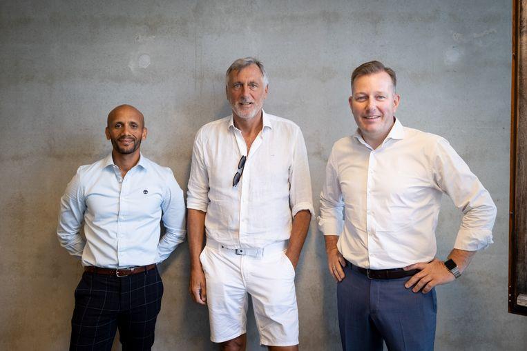 Piet den Boer is G-sportambassadeur. Hij wordt geflankeerd door schepenen Abdrahman Labsir en Alexander Vandersmissen
