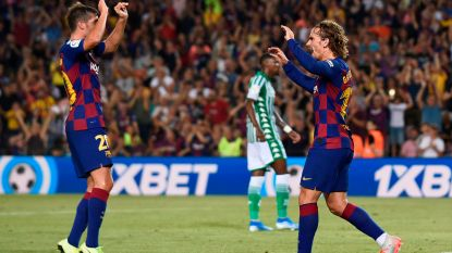 LIVE. Barça en Betis rusten bij 1-1 na goals van Fekir en Griezmann
