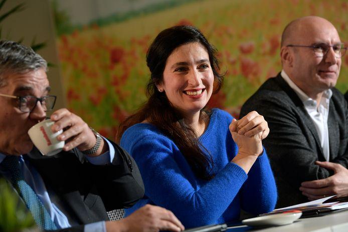 Zuhal Demir tijdens de persconferentie van N-VA Limburg.