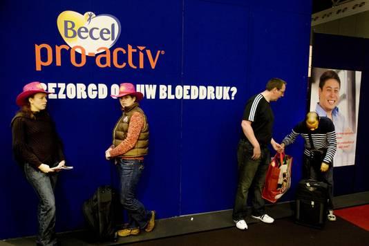 Stand van Becel pro-activ op de Huishoudbeurs in Amsterdam. © ANP