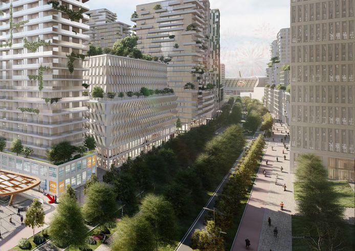 De Fellenoord in Eindhoven moet volgens de ontwikkelvisie een Internationale Knoop XL worden met een groene boulevard.