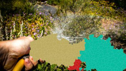 IN KAART. Gazon besproeien vanaf maandag verboden in vijftien gemeenten in Vlaams-Brabant