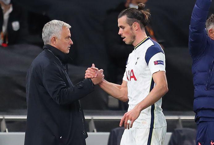 José Mourinho en Gareth Bale.