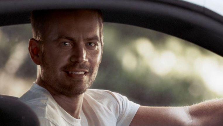 Paul Walker in Fast & Furious 7. Beeld