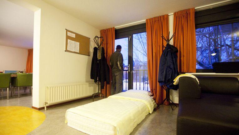 In totaal heeft Amsterdam 250 extra opvangplekken beschikbaar gesteld voor dak- en thuislozen. Foto ANP Beeld