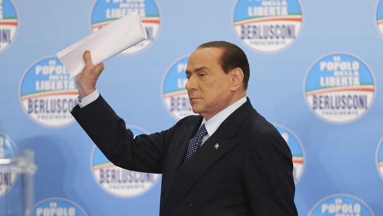 Berlusconi toont zijn politieke programma Beeld ap