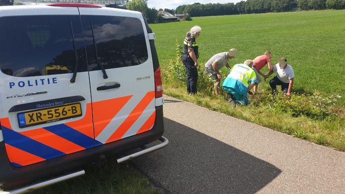 Ongeluk met een driewieler-fiets in Aalten.
