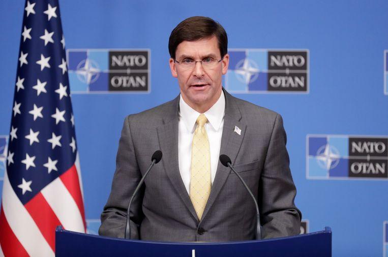 De Amerikaanse minister van Defensie Mark Esper gaf meer informatie over de onderhandeling met de Taliban vandaag in Brussel.
