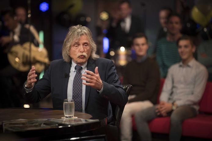 Johan Derksen tijdens een uitzending van Voetbal Inside.