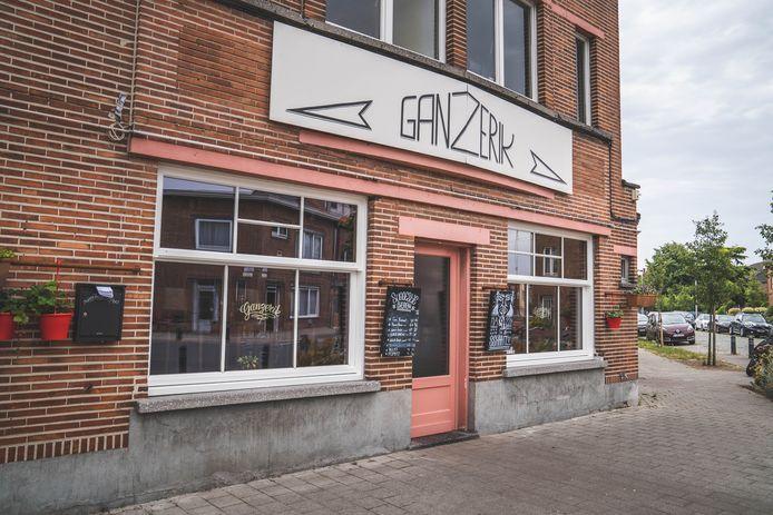 Café en eettent Ganzerik in de Druifstraat in Gent.
