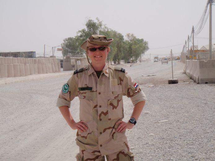 Luchtmachtvoorlichter Annelies Homma in Kandahar (2008)