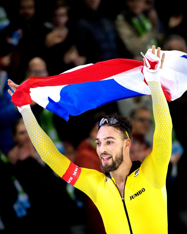 Kjeld Nuis won de de 1.000 en 1.500 meter. Beeld Klaas Jan van der Weij
