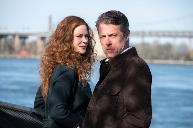 In het schijnbaar perfecte leven van Nicole Kidman en Hugh Grant komt in The Undoing een flinke barst.  Beeld HBO