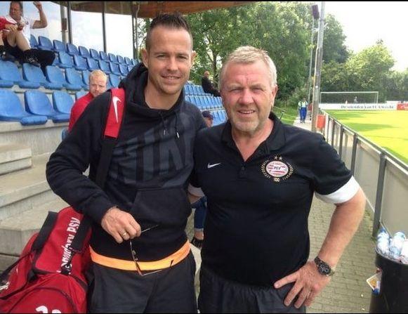 Eddy met Gilles De Bilde, ook een grootheid bij PSV.