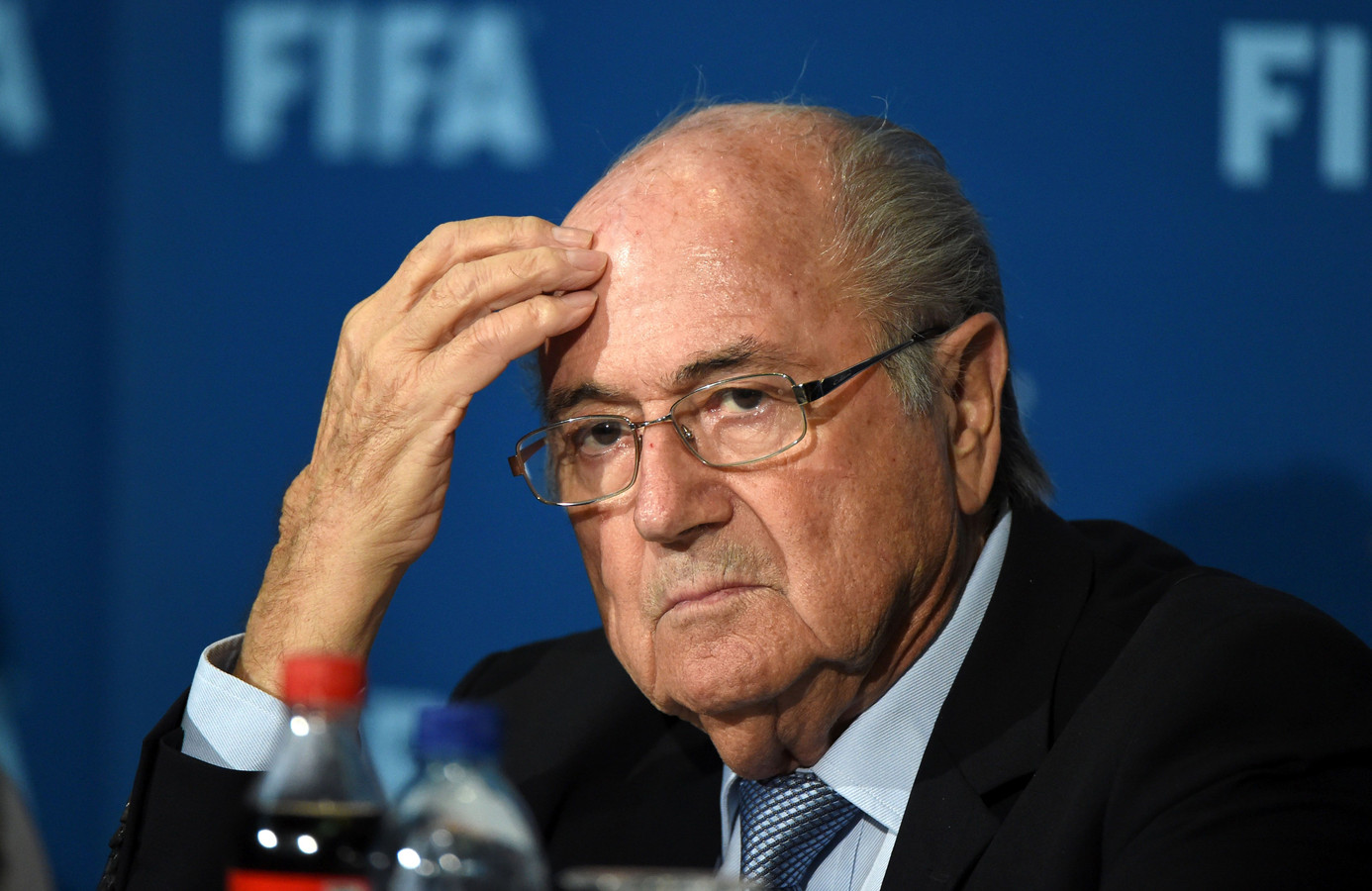 Sepp Blatter in december 2014 in Marrakech.