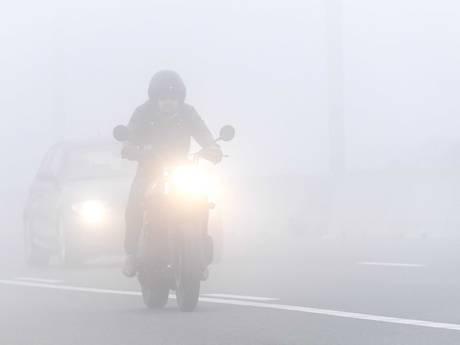 Code geel voor zeer dichte mist
