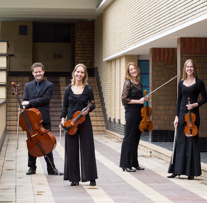 Het Dudok Quartet Amsterdam speelt in de Zeeuwse Concertzaal.