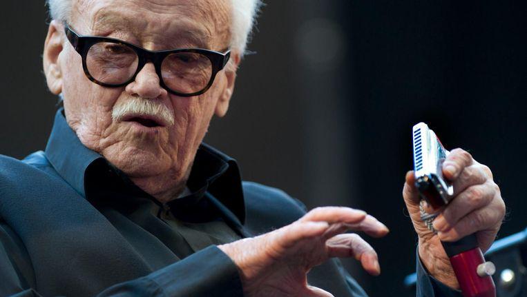 Toots Thielemans (91) in 2013 tijdens een optreden op het South East Jazz Festival in de Amsterdam Arena Beeld anp