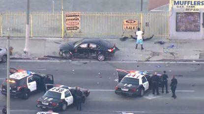 Wilde politieachtervolging eindigt in zware crash