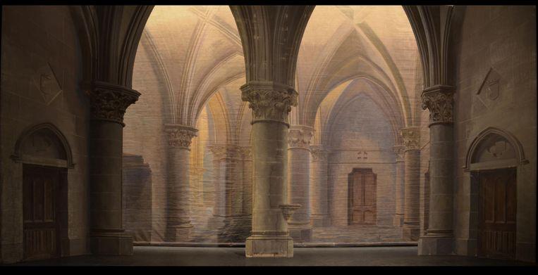 Een kerk voor de opera Faust.