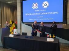 Politiezone Antwerpen bezegelt samenwerking met politie Singapore