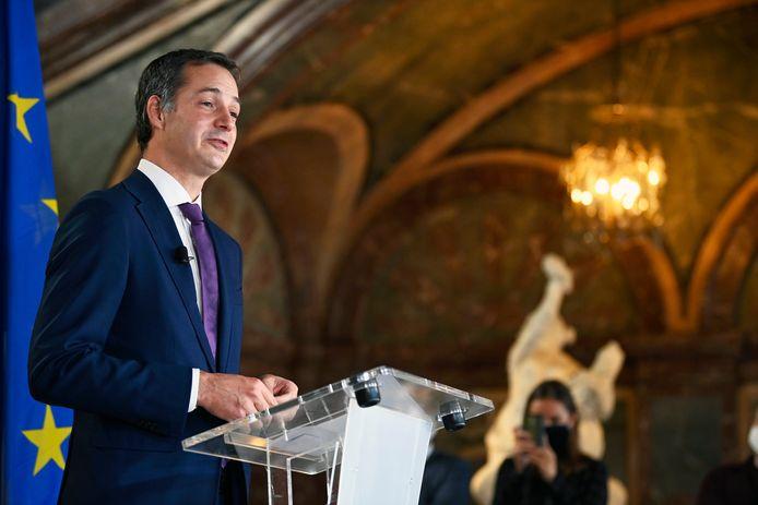 De nieuwe premier Alexander De Croo (Open Vld).