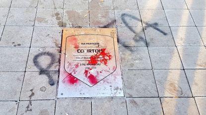 """""""Rat"""": fans Atlético vandaliseren naambord van Thibaut Courtois aan het Wanda Metropolitano, zelfs security moet ingrijpen"""