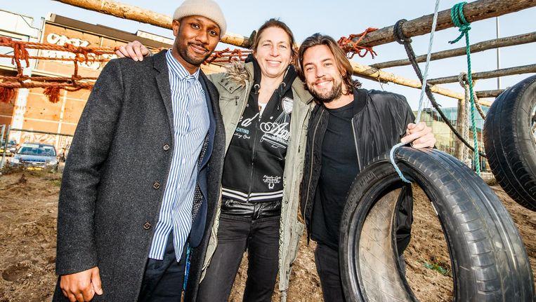 De finalisten van Expeditie Robinson 2016: Bertie Steur, Dio en Thomas Dekker. Beeld anp