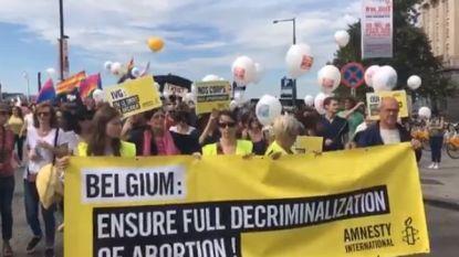 1.600 mensen betogen in Brussel voor recht op abortus