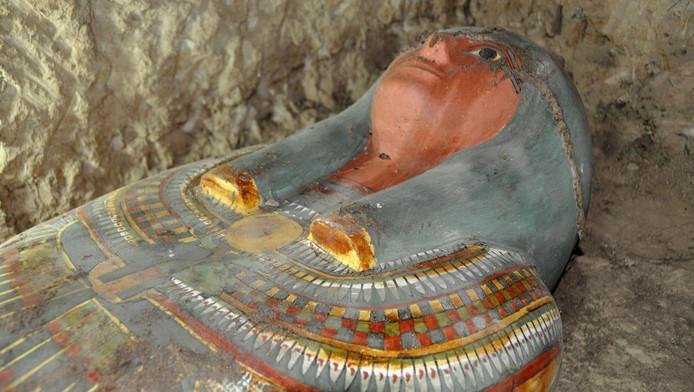 Een foto van de sarcofaag.