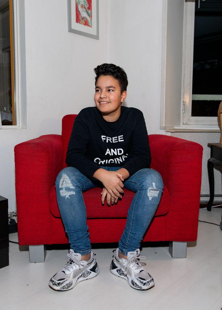 'Mijn oom vond de schoenen zo vet dat hij ze ook voor mijn neefje wilde' Beeld Lin Woldendorp