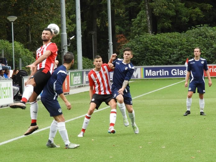 PSV AV thuis in actie tegen Unitas'59 in oktober 2017.