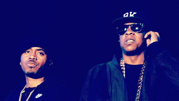 De rappers Nas en Jay-Z.