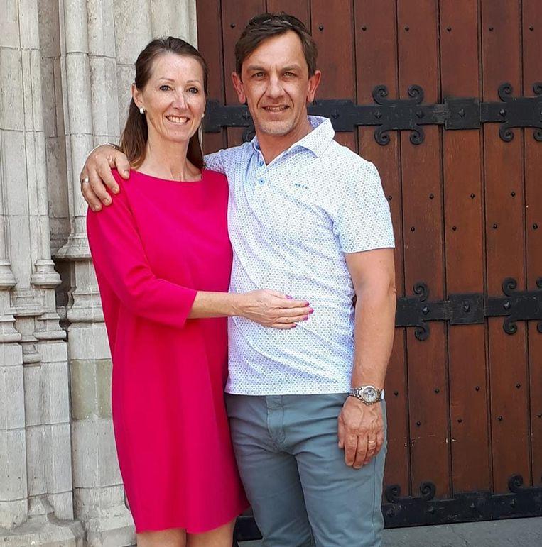 Schipper Kurt Slabinck met z'n vrouw Muriel Goegebeur.