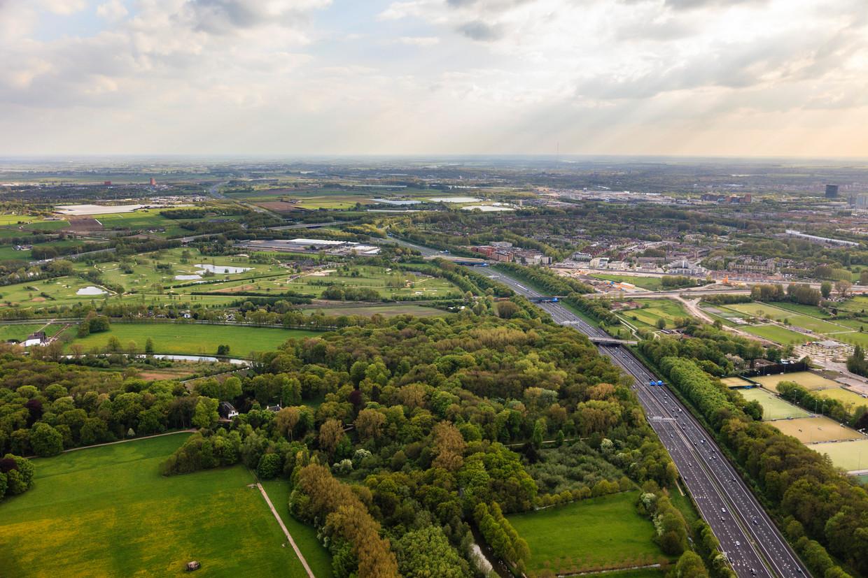 De plek van de (omstreden) verbreding van de A27 bij Amelisweerd. De Raad van State zette er een streep door.
