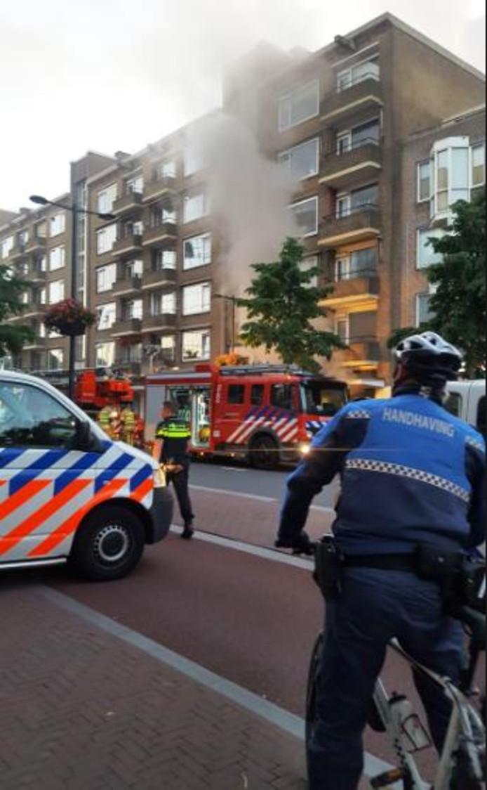 De brand bij de Kunstuitleen.
