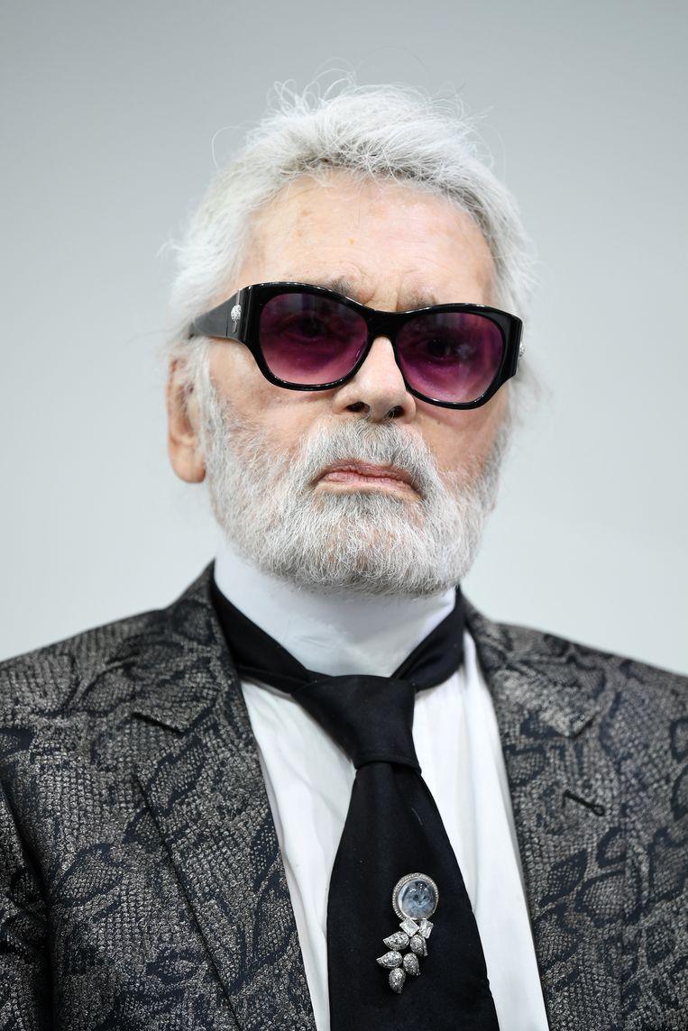 Karl Lagerfeld, 6 juni 2018.  Beeld Getty Images
